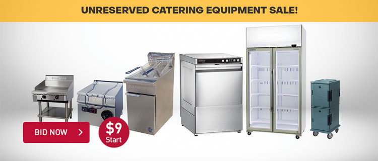 UNRESERVED CATERING EQUIPMENT SALE!