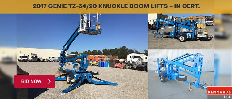 Genie TZ-34/20 Trailer Mounted Knuckle Boom Lifts