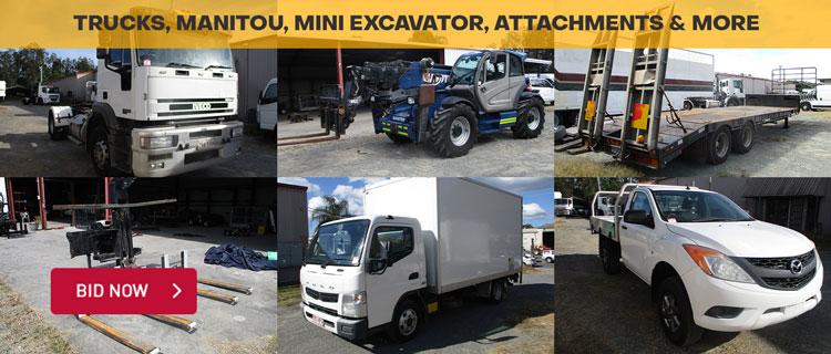 Trucks, Manitou, Mini Excavator, Attachments & More