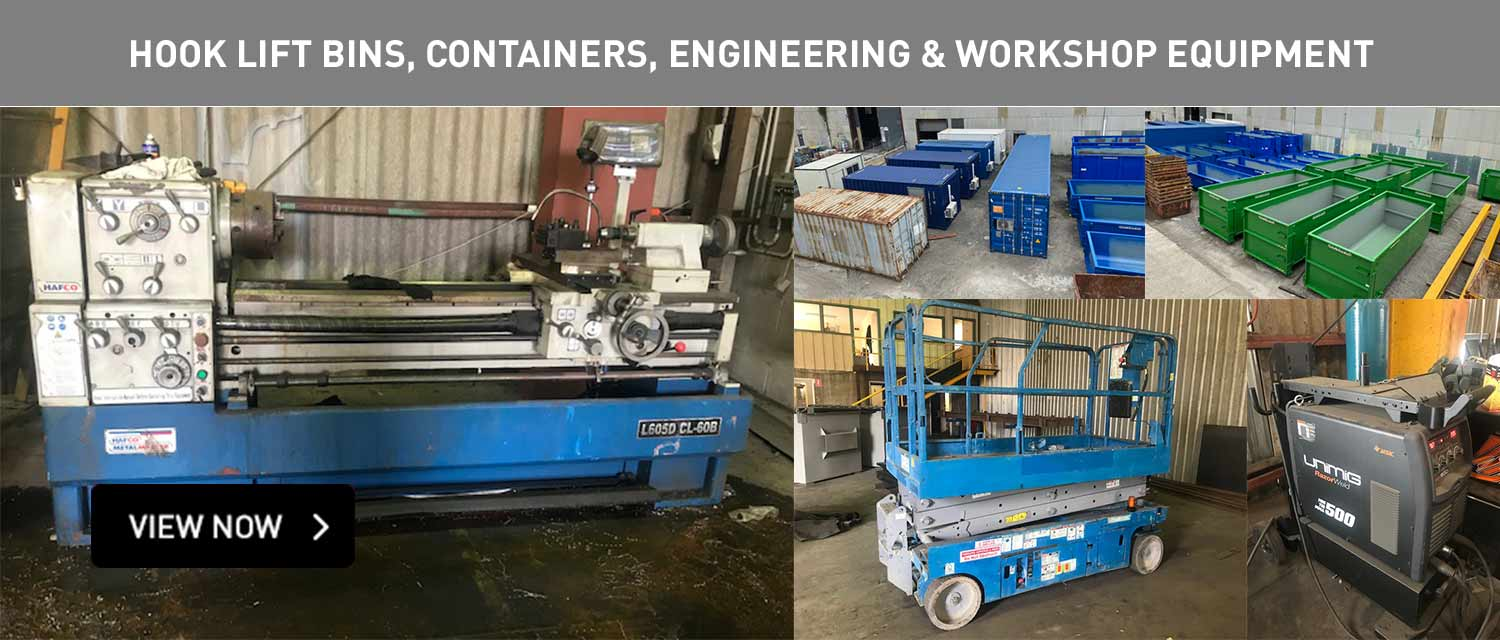 Hook lift bins, containers, engineering and workshop