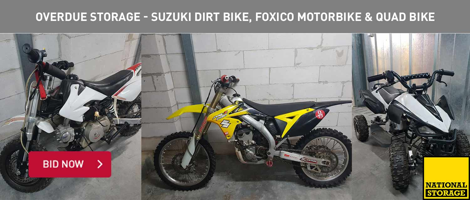 Overdue Storage - Suzuki Dirt Bike, Foxio Motorbike and Quad Bike