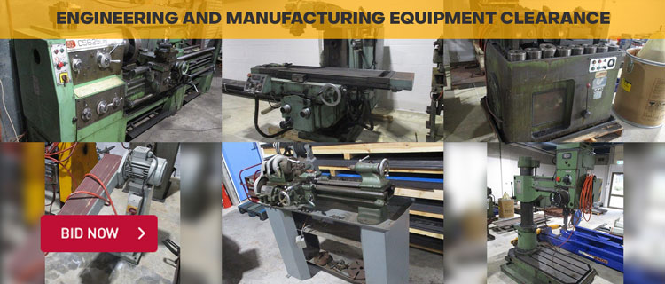 Unreserved Engineering & Manufacturing Equipment Clearance