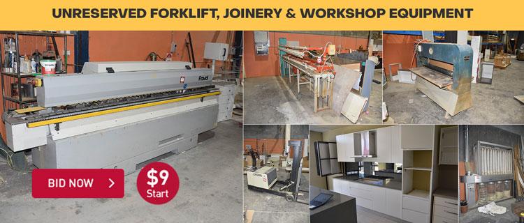 Unreserved Forklift, Joinery & Workshop Equipment