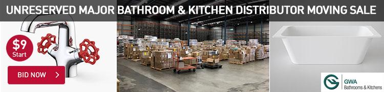 Unreserved Major Bathroom & Kitchen Distributor Moving Sale