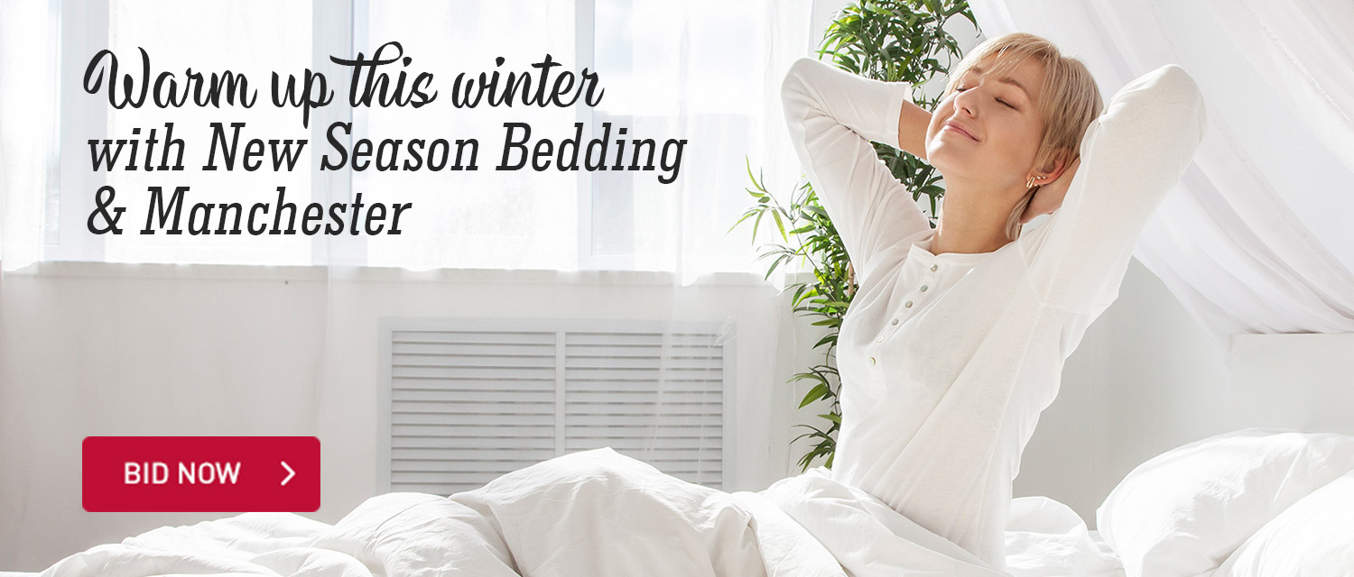 Warm Up this Winter with new season Bedding and Manchester