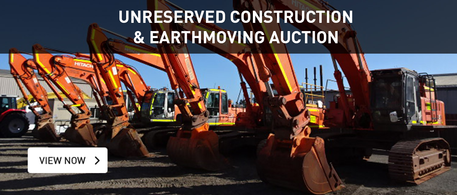 Unreserved Construction & Earthmoving Auction