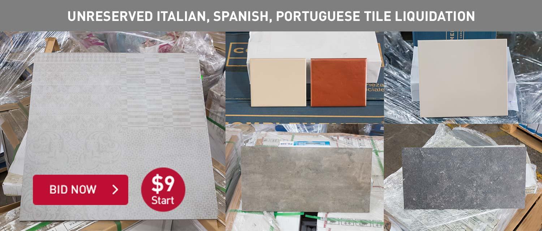 Unreserved Italian, Spanish, Portuguese Tile Liquidation