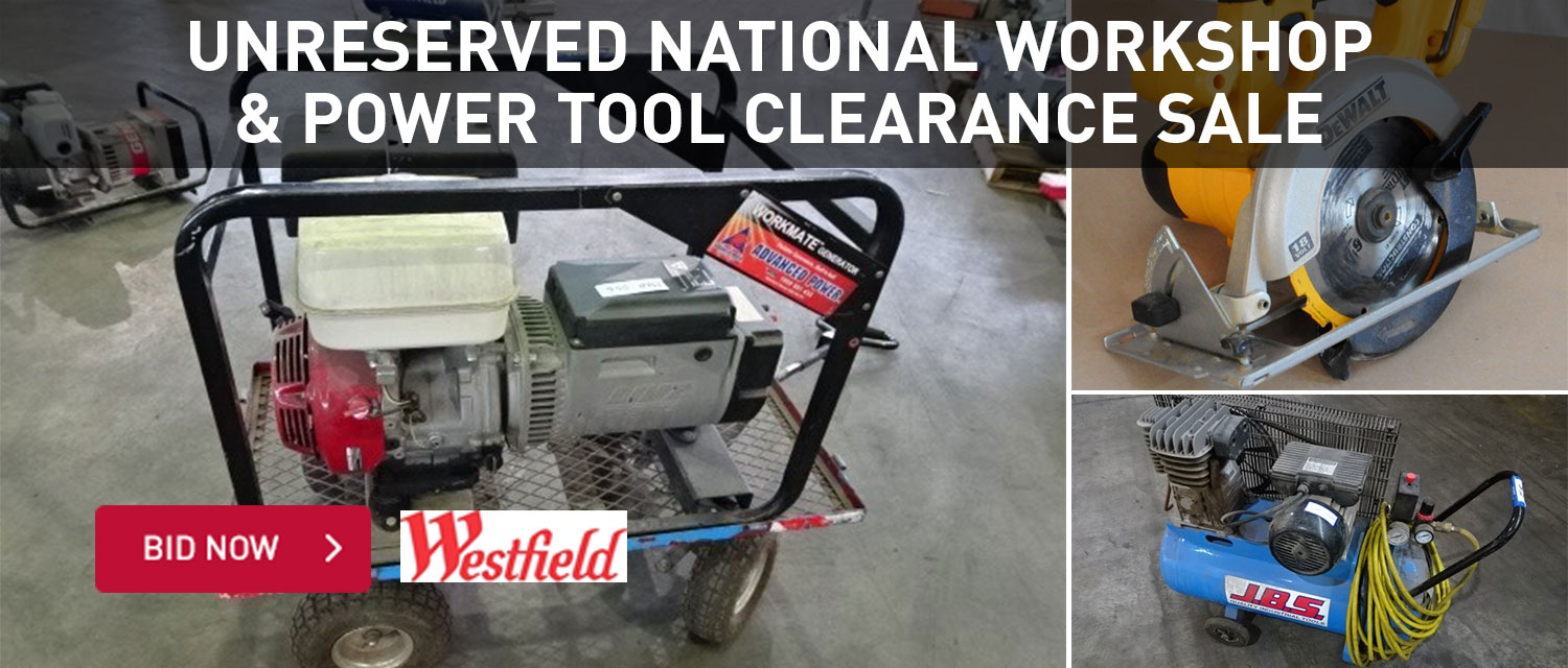 Unreserved national workshop and power tool clearance sale