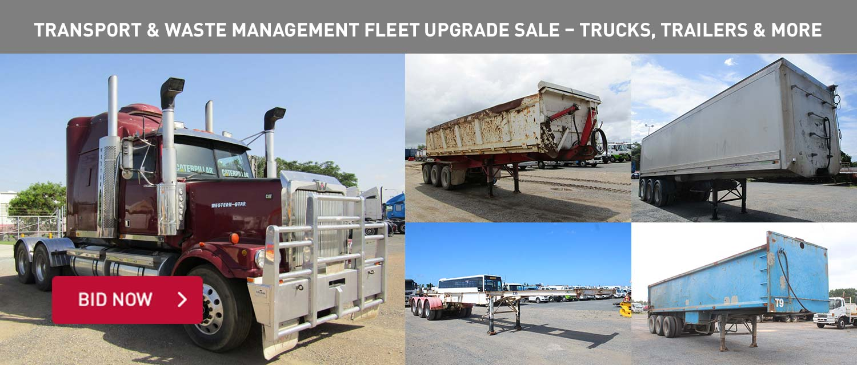 Transport & Waste Management Fleet Upgrade Sale %u2013 Trucks, Trailers & More