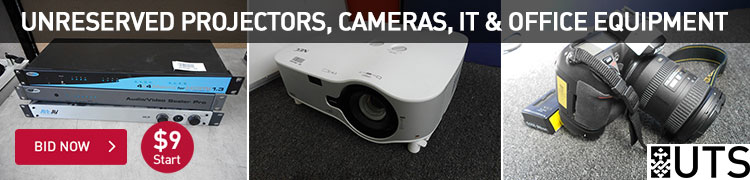 Unreserved projectors, cameras, it and office equipment