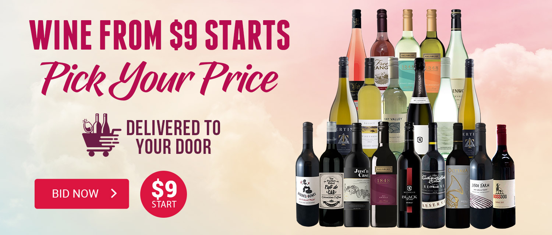 Wine from $9 Start