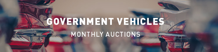 Government Vehicles Monthly Auctions