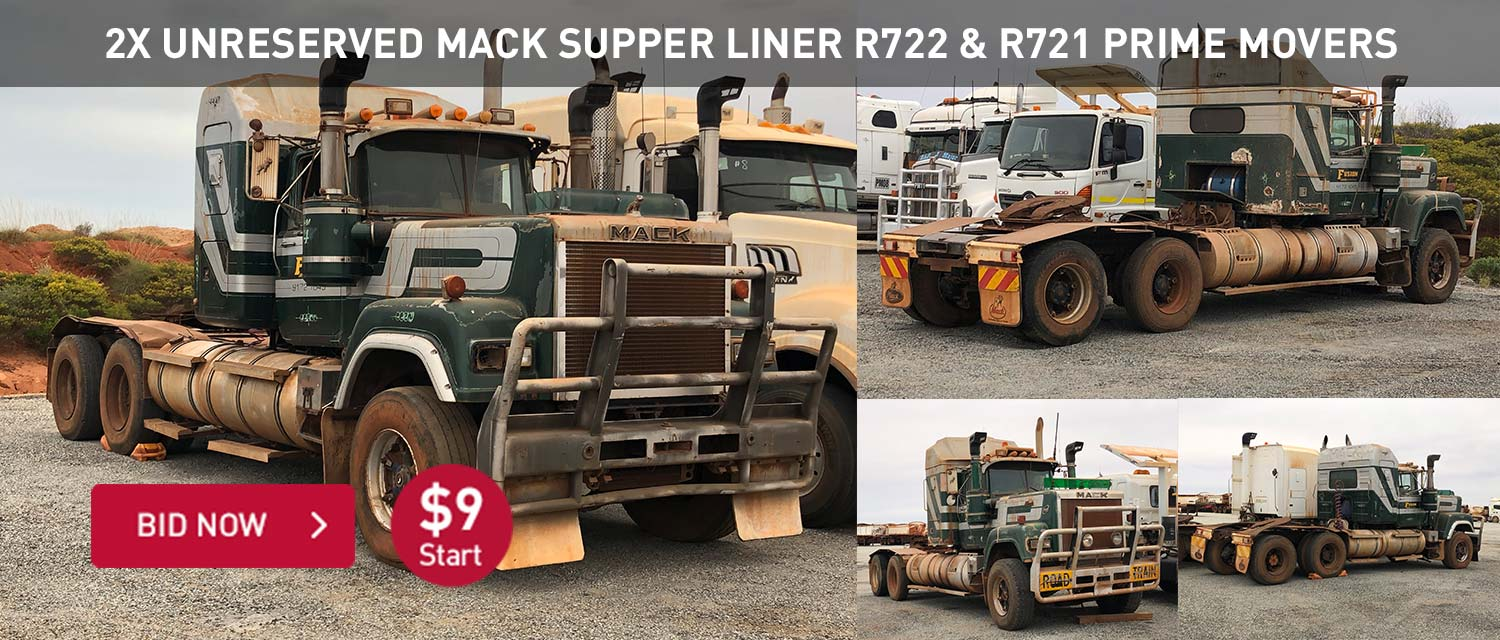 2x Unreserved Mack Supper Liner R722 & R721 Prime Movers