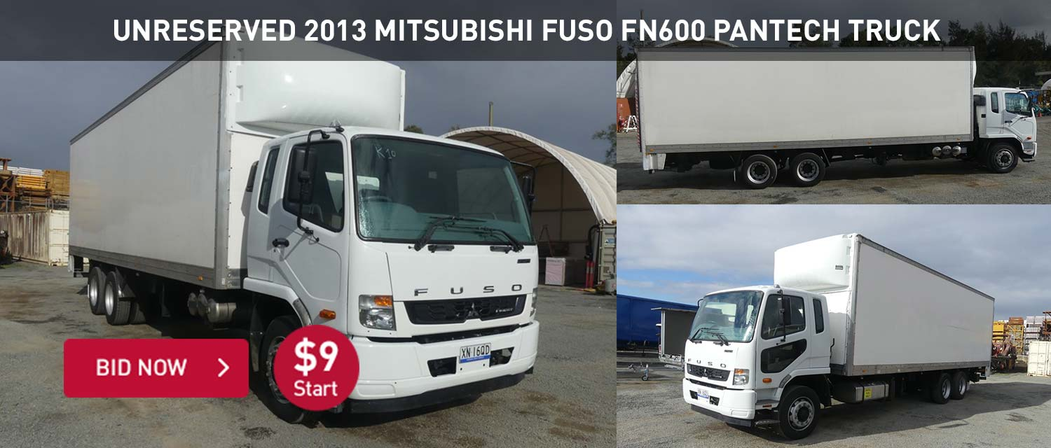 Unreserved 2013 Mitsubishi Fuso FN600 Pantech Truck