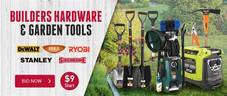 Builders Hardware and Garden Tools