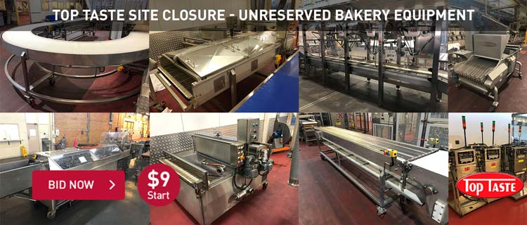 Top Taste Site Closure - Unreserved Bakery Equipment