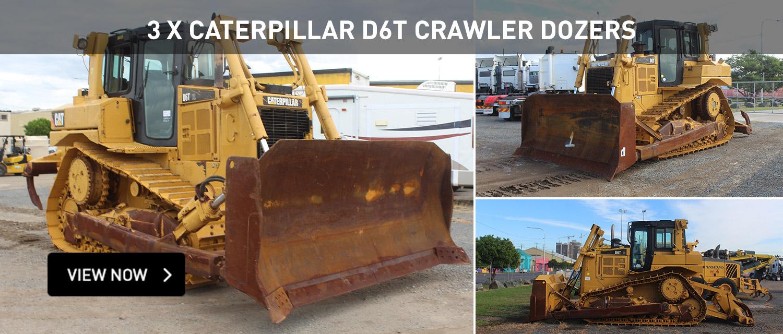 3x Caterpillar D6T Crawler Dozers