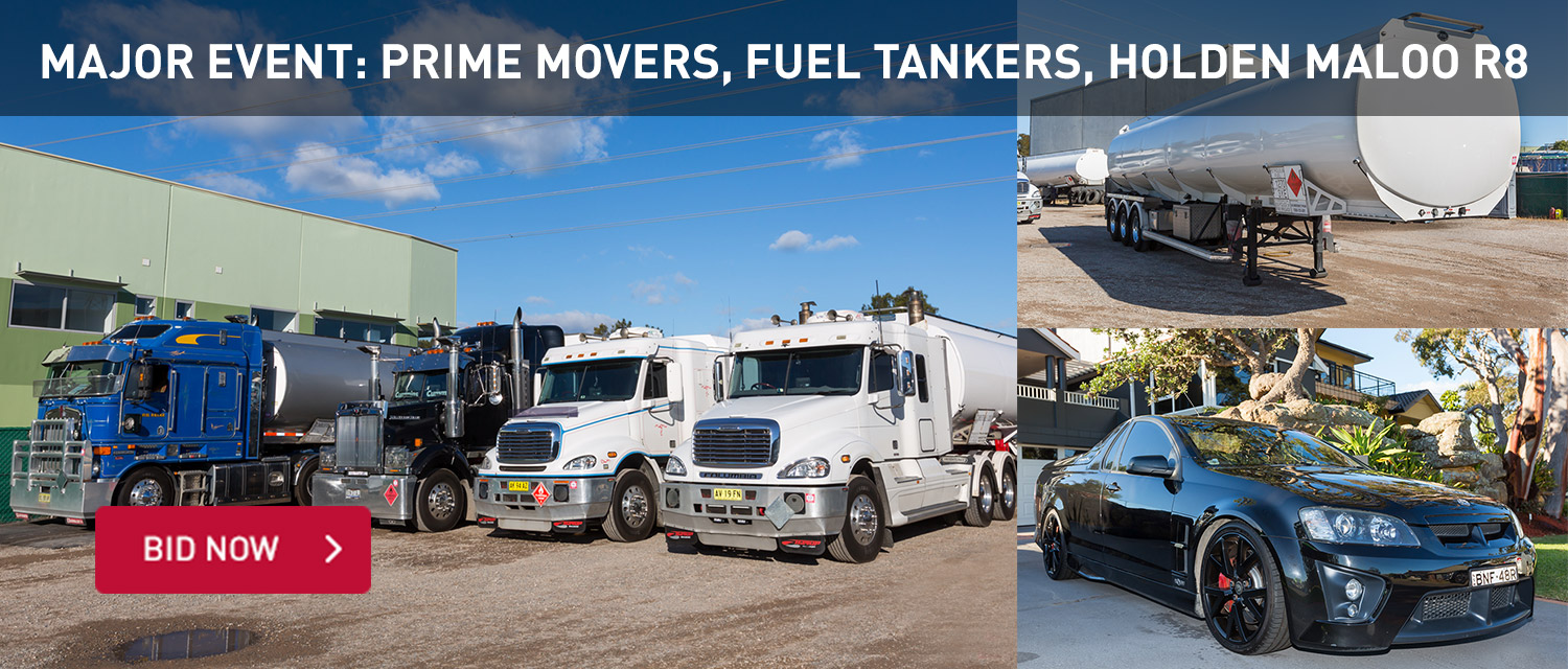 Major Event: Prime Movers, Fuel Tankers, Holden Maloo R8