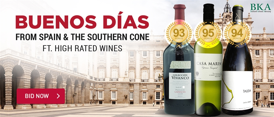 Buenos Dias Wine from Spain & the Southern Cone feat. High Rated Wines | BID NOW