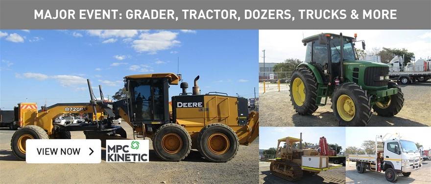 Major Event: Grader, tractor, dozers, trucks and more