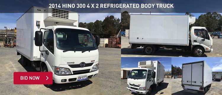 2014 Hino 300 4 x 2 Refrigerated Body Truck