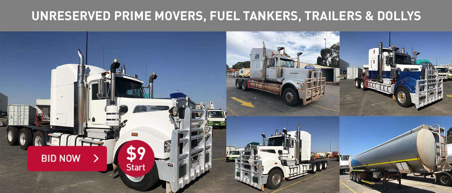 Unreserved Prime Mover, Fuel Tankers, Trailers and Dollys