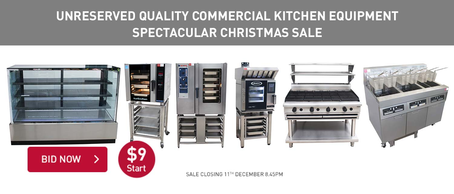 UNRESERVED QUALITY COMMERCIAL KITCHEN EQUIPMENT SPECTACULAR CHRISTMAS SALE