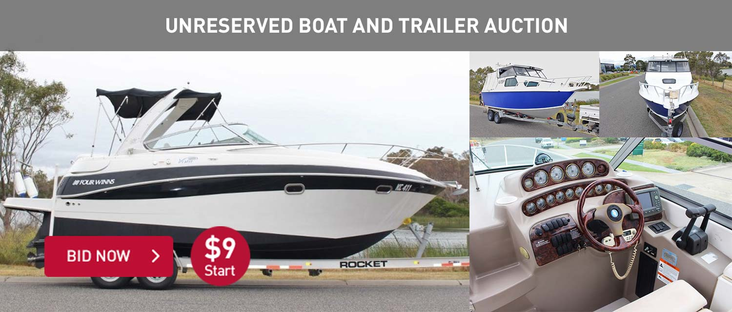 Unreserved Boat and Trailers Auction