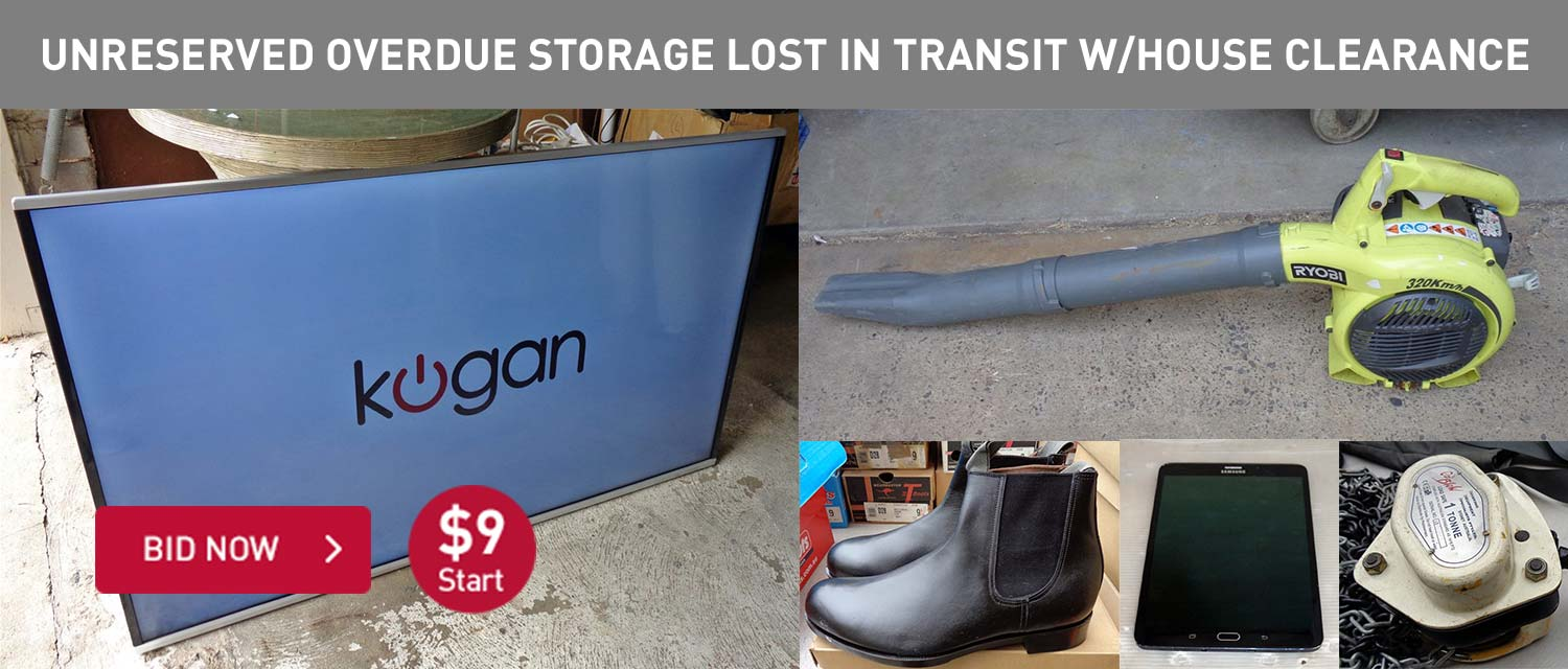 Unreserved Overdue Storage Lost In Transit Warehouse Clearance