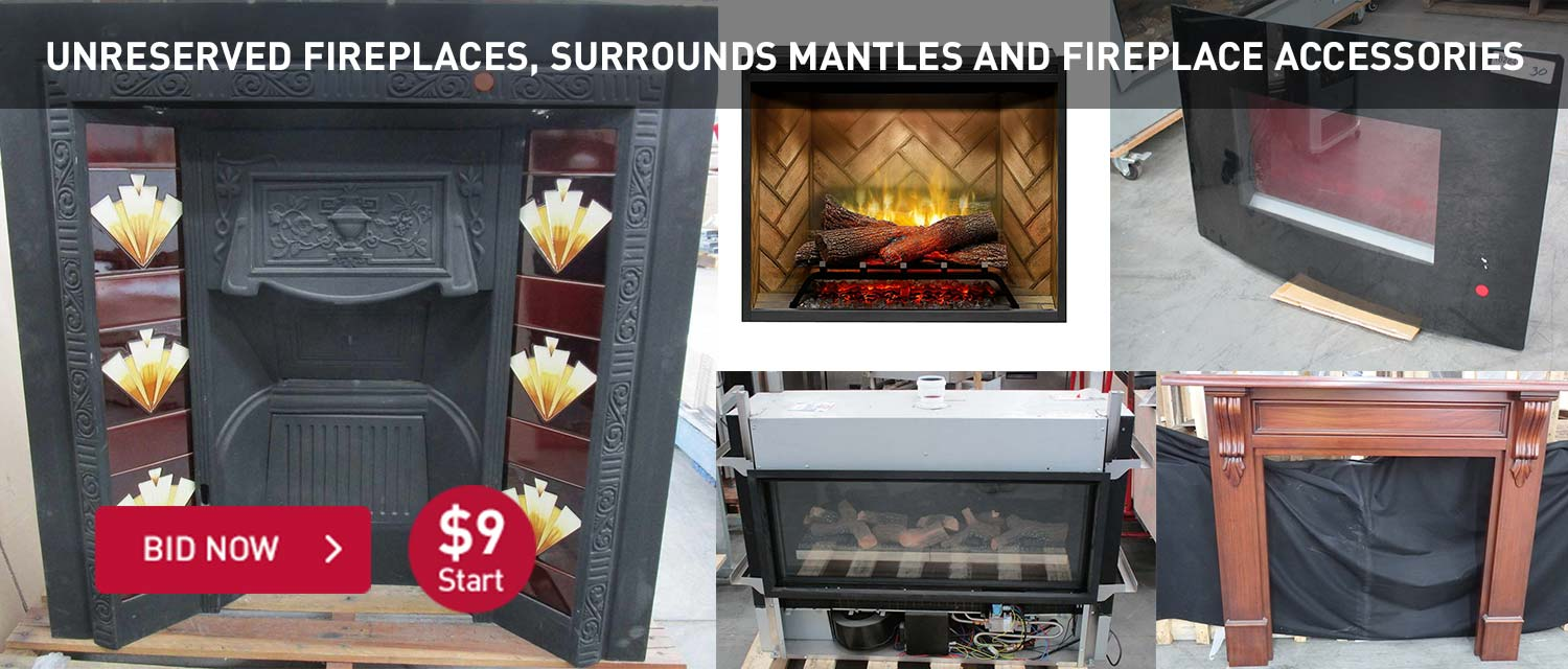 Unreserved Fireplaces, Surrounds Mantles and Fireplace Accessories