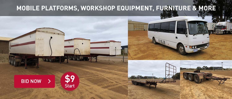 Mobile platforms, workshop equipment, furniture and more