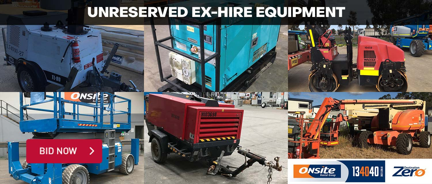 Unreserved Ex-Hire Equipment