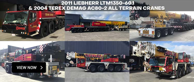 2011 Liebherr LTM1350-60.1 & 2004 Terex Demag AC80-2 All Terrain Cranes