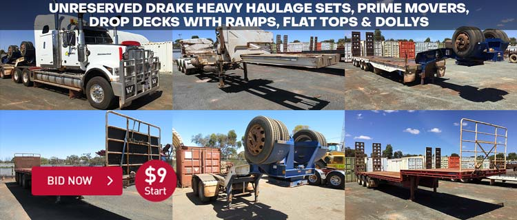 Unreserved Drake Heavy Haulage, Trucks & Freight Trailers