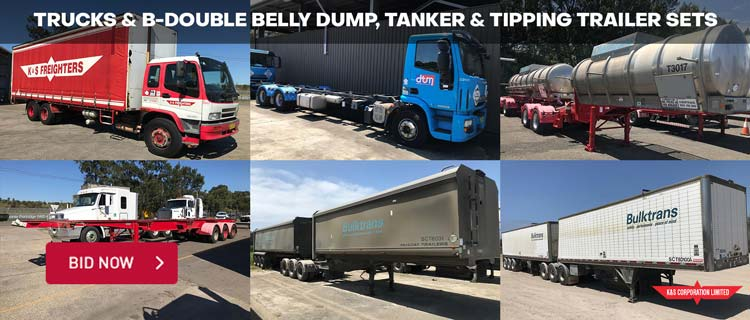Trucks & B-Double Belly Dump, Tanker & Tipping Trailer Sets