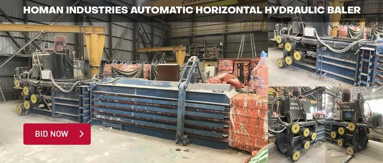 Homan Industries Automatic Horizontal Hydraulic Baler