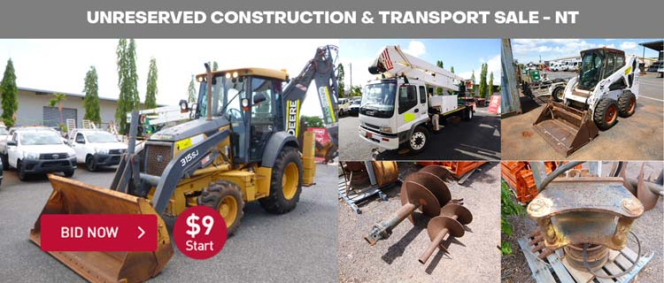UNRESERVED Construction & Transport Sale - NT