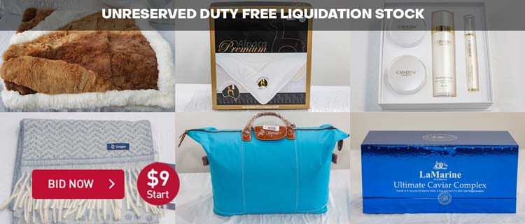 UNRESERVED DUTY FREE LIQUIDATION STOCK