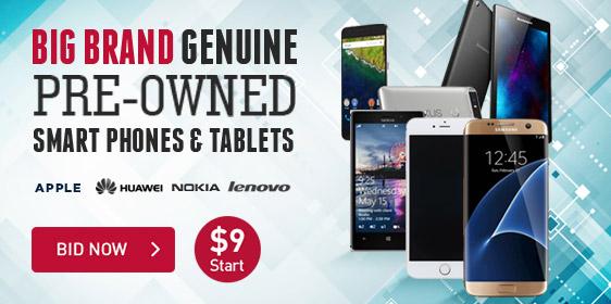 Big Brand Genuine Pre-Owned Smart Phones & Tablets