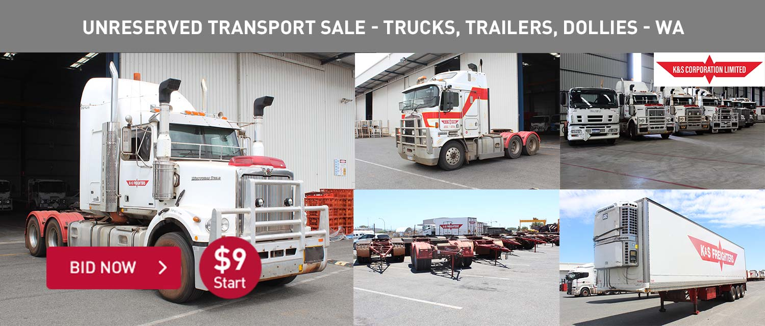 Unreserved Transport Sale - Trucks, Trailers, Dollies - WA