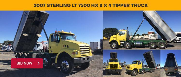 2007 Sterling LT 7500 HX 8 x 4 Tipper Truck