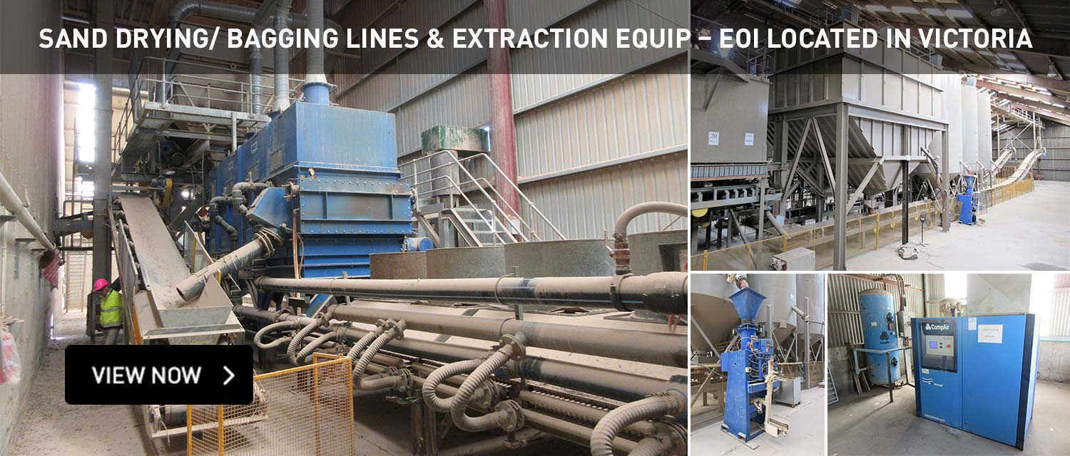 Sand drying bagging lines and extraction equip eoi