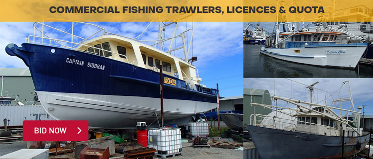Commercial Fishing Trawlers, Licences & Quota