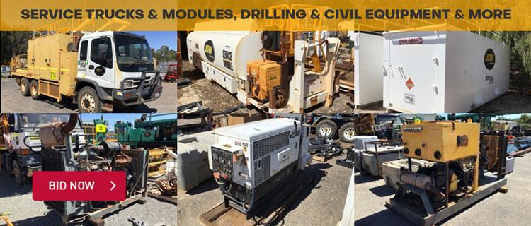 Service Trucks & Modules, Drilling & Civil Equipment & More