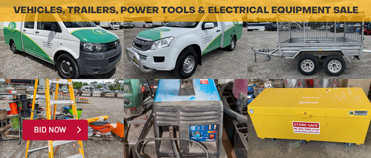 Vehicles, Trailers, Power Tools & Electrical Equipment Sale