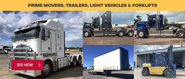 Prime Movers, Trailers, Light Vehicles & Forklifts