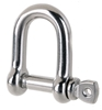 10 x Stainless Steel Standard Dee Shackles 10mm, Grade 316. Buyers Note - D