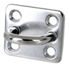 10 x Stainless Steel Square Pad Eyes 6mm, Grade 304 . Buyers Note - Discoun