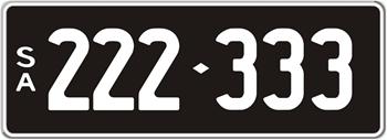 6 Digit Number Plates