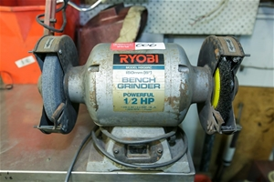 Fantastic Bench Grinder Double Ended Ryobi 150Mm Wheel Capacity 1 2 Hp Motor 240V Caraccident5 Cool Chair Designs And Ideas Caraccident5Info